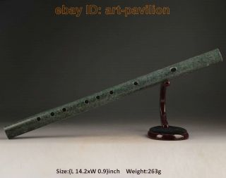 Collectable Old Jade Flute Decoration Handmade Carved Smooth Fair - Soundin photo