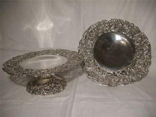 2 Antique 1904 American Silver Tazza Compote Dish Howard & Co 39 Oz photo