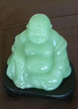 100% Nature Green Jade Buddha photo
