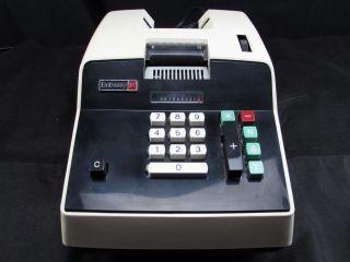Vintage Electric Adding Machine Embassy Ix Mechanical Calculator Secretary Desk photo