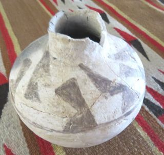 Prehistoric Anasazi Black On Gray Pottery Jar photo
