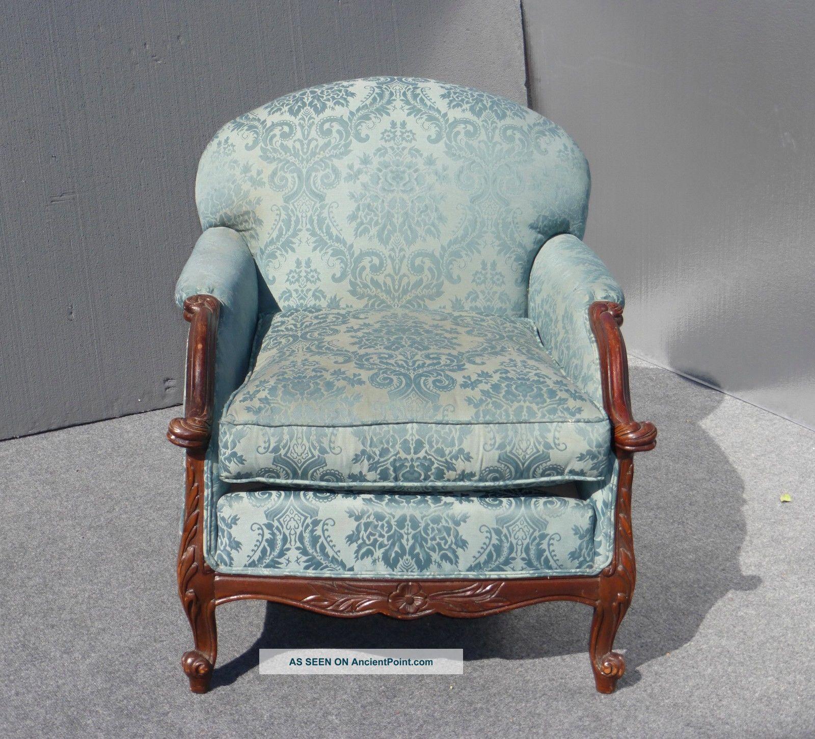 Vintage overstuffed chair for Overstuffed armchair