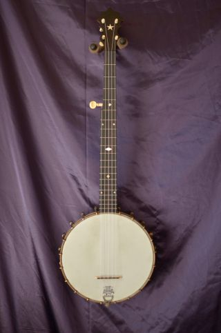 Restored 1894 Ss Stewart American Princess 5 String Banjo Usa Made photo
