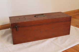 Vintage 1900 W & L.  E.  Gurley Field Minors Scale In Had Wood Box With Weights photo