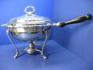 Ornate Silver Plated Chafing Dish Maker Unknown photo