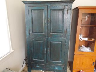 Antique Blue Armoire photo