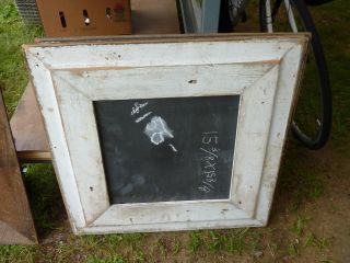 C1920 Vintage Schoolhouse Slate Chalkboard Repurposed W Salvaged Wood Frame 26