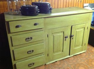 Antique Rustic Dry Sink Built By Noted Pennsylvania Craftsman In The 1880 ' S. photo