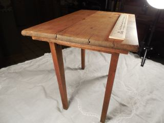 Late 1800 ' S Salesmans Sample Folding Table With Spring Loaded Legs 16  By 10 photo