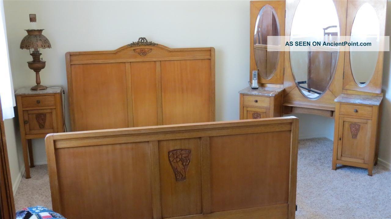 Phenomenal Antique Art Nouveau French Country Ash 3 Piece Bedroom Set Download Free Architecture Designs Osuribritishbridgeorg