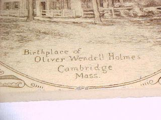 Mintons China Works Tile Birthplace Of Oliver Wendell Holmes Cambridge Mass photo