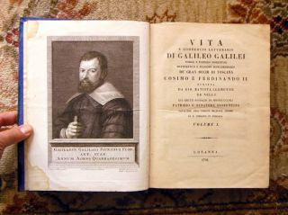 1793 Galileo Two Vol Set Rare & Important Italian Scientific Biography W/ Plates photo