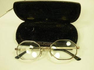 Vintage 1/20th 12k Gold Fill Art Craft Co Mens Eyeglasses W/ Case See Me photo