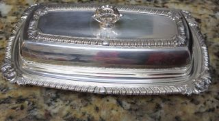 Cross Silver Plate Butter Dish Euc photo