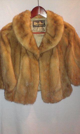 Vintage Fur Stole Made By Miller & Rhoads Fur Salon photo