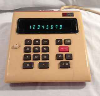 Sharp Elsi 804 Vintage Desktop Calculator.  Made In Japan 1973.  Works Great photo