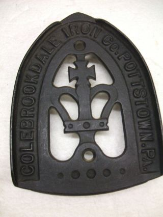Vintage Sad Iron Holder,  Trivet,  Hot Plate Ex photo