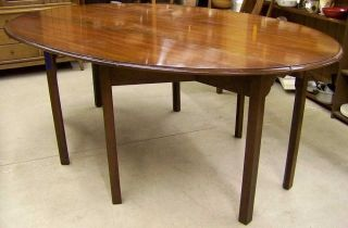 Wright Table Company Drop - Leaf Walnut Dining Table photo