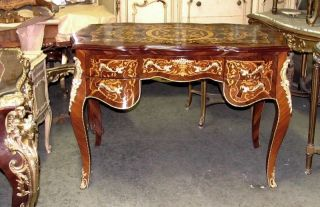 Gorgeous Ornately French Louis Xv Marquetry Style Secretary Desk photo
