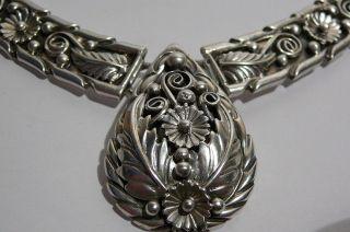 Rare.  Necklacesterling Silver.  Mark Hd.  Henry Davis Navajo.  48gr. photo