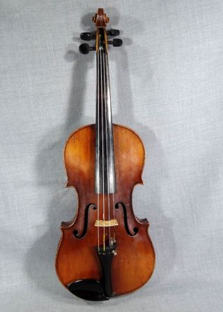 Antique Croatian Antonius Stradivarius Violin Fiddle 4/4 Soloist Master Cherry W photo