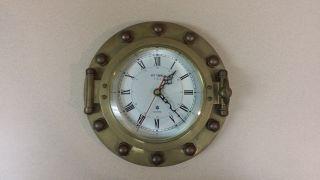 Art Temple Quartz Porthole Clock W/ 5.  75