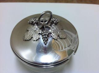 Sterling Silver Top Jelly Jar photo