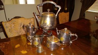 Christofle Antique Collectible Silver Coffee Tea Set photo