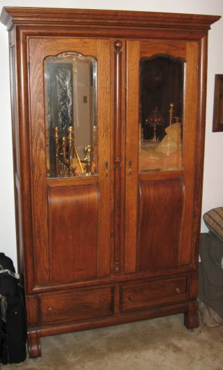 Antique Fiddleback Armoire photo