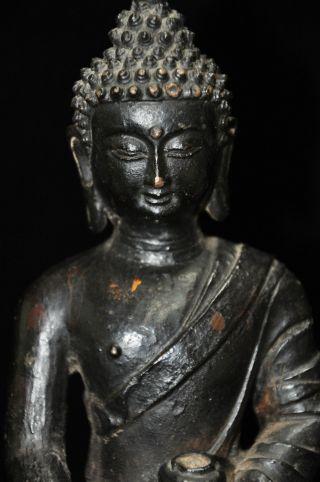 Antique Buddhist Buddha Bronze Statue photo