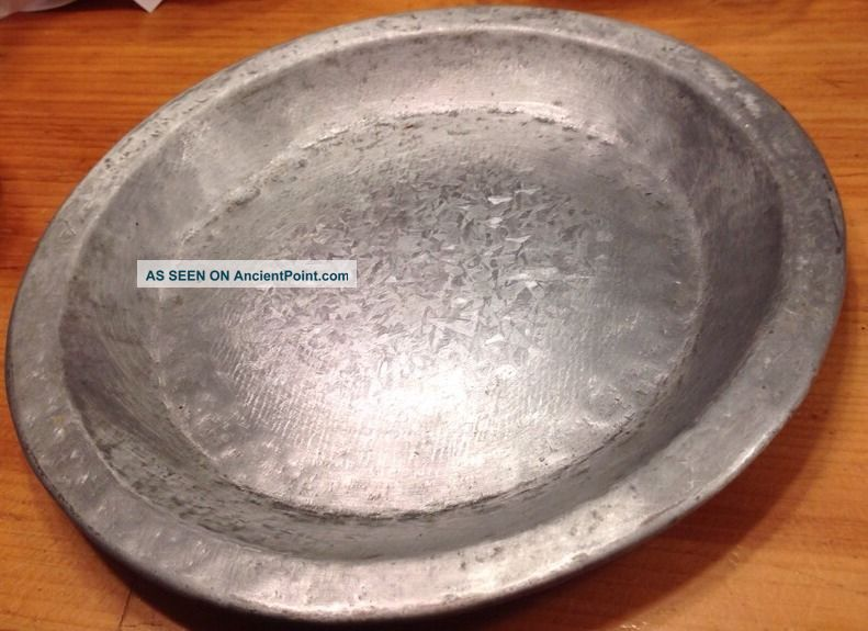 Vtg Antique Primitive Colonial Pewter? Aluminum? 9. 5   Dinner Plate Heavy Metal & Vtg Antique Primitive Colonial Pewter? Aluminum? 9. 5