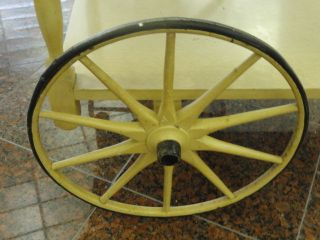 French Provincial Style Drop Leaf Tea Cart + Tray photo