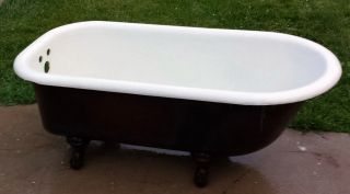 Antique Porcelain Rustic Cast Iron Eagle Claw Bath Tub - Usa 8 - 11 - 1920 photo