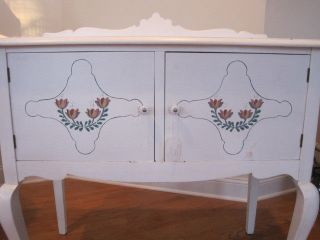 Mid - Century Hand - Painted Walnut Server photo