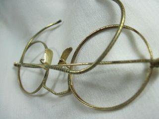Antique 1920 ' S Solid 14k Gold Ornate Eyeglass Frames photo