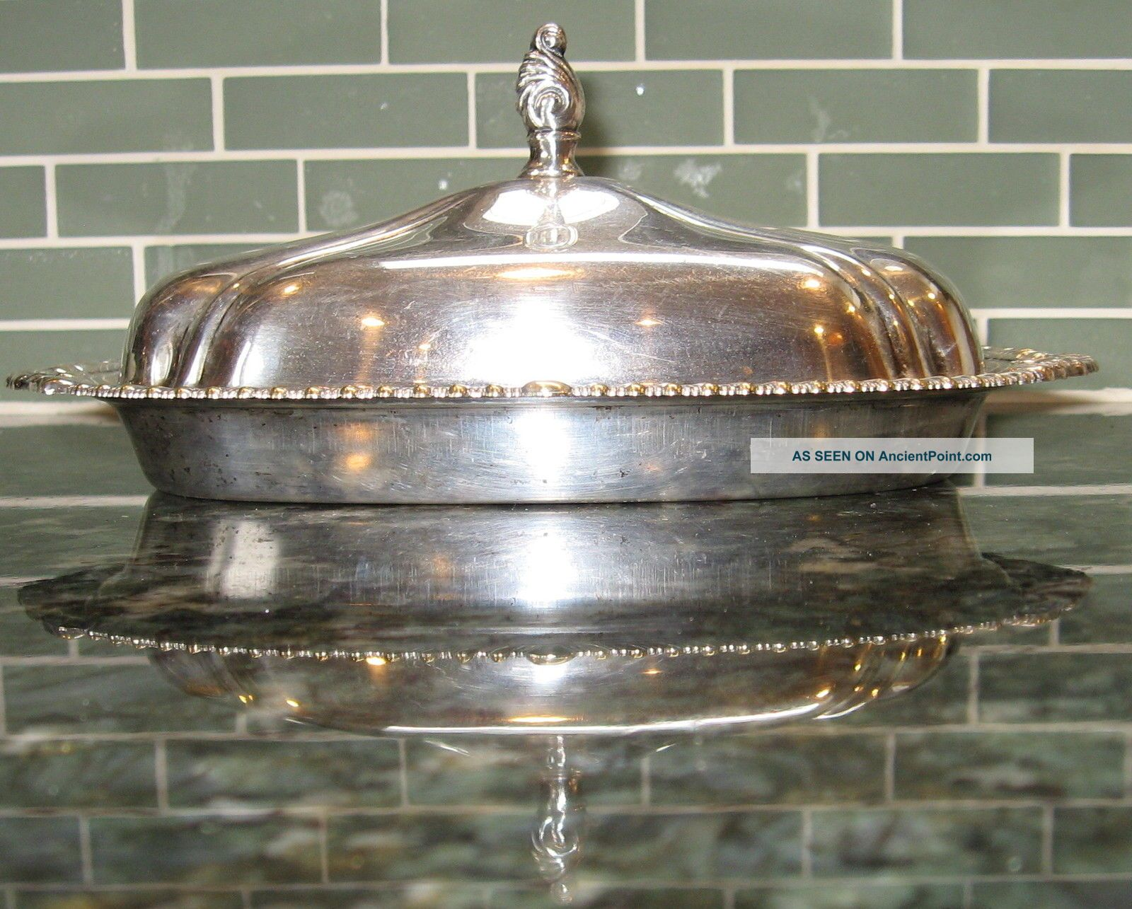Silver Plated Butter Dish.  Sheridan Silver Co Inc.  Taunton,  Ma. Butter Dishes photo