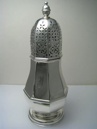 American Solid Sterling Silver Sugar Caster Muffineer Shaker Ca1920s N/a Maker photo