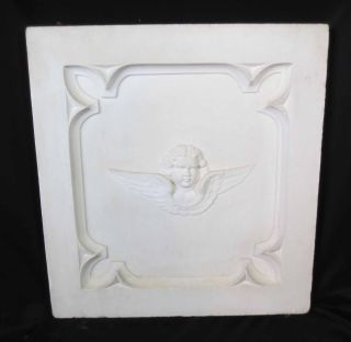 Antique Architectural Religious Italian Marble Altar Angel/cherub Panel (2) photo