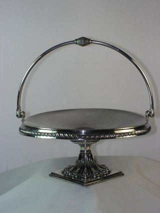 Reed & Barton 1880 ' S Victorian Silver Pedestal Cake Stand 4507 Brides Basket photo