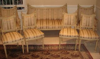 An Important French 7 - Piece Set Antique Sofa,  Chairs & Armchairs photo