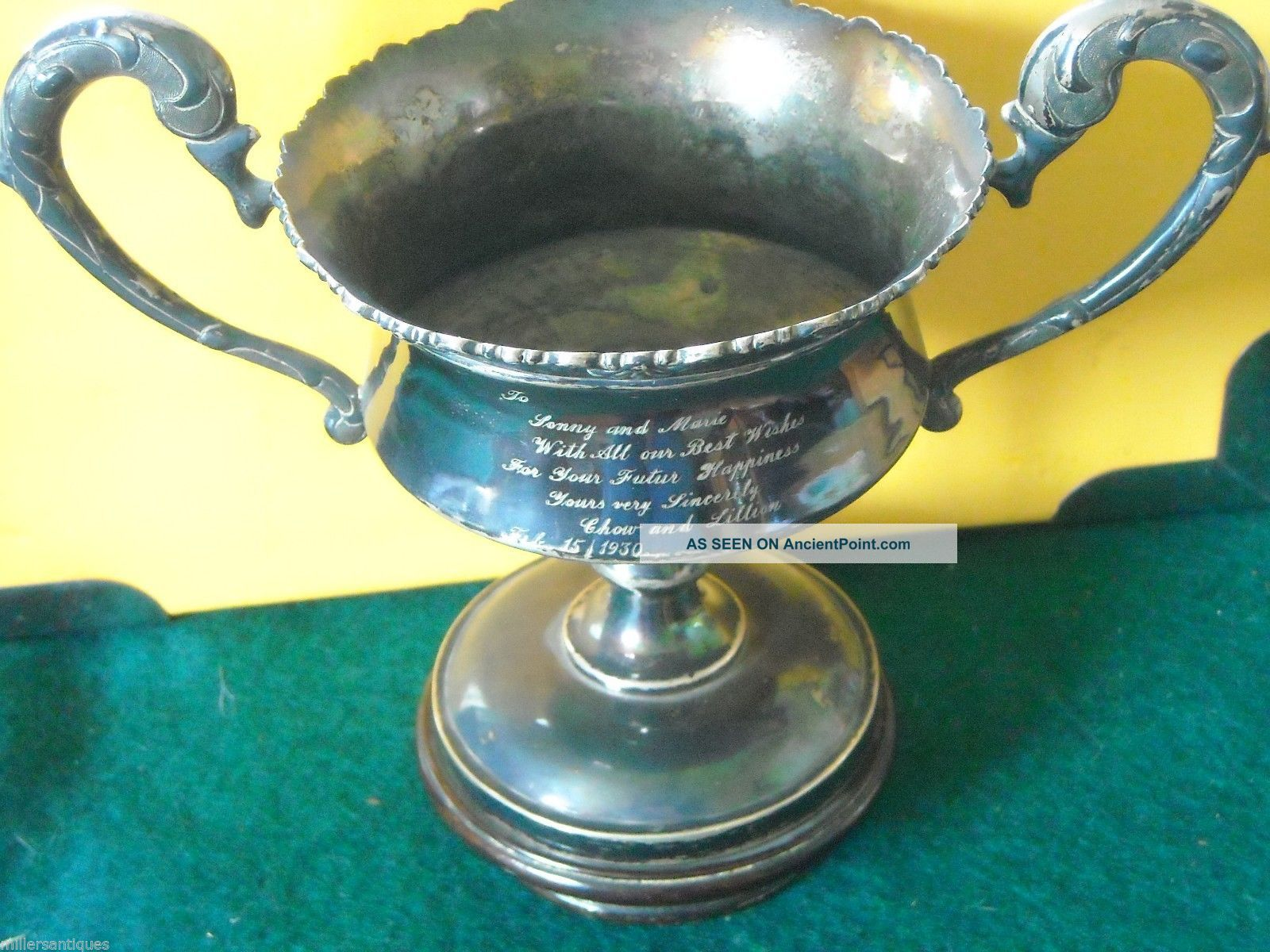 Finest Antique Chinese Export Solid Silver Trophy Cup Asia photo