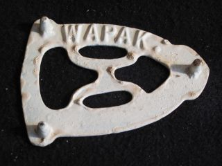 Vintage Wapak Cast Iron Trivet - Sad Iron Rest / Home Decor / Ohio photo