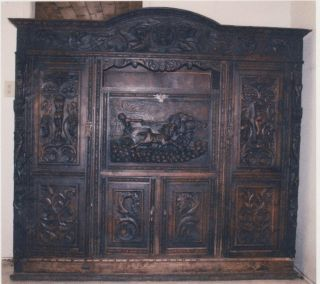 Antique Walnut Baroque Case Cabinet photo