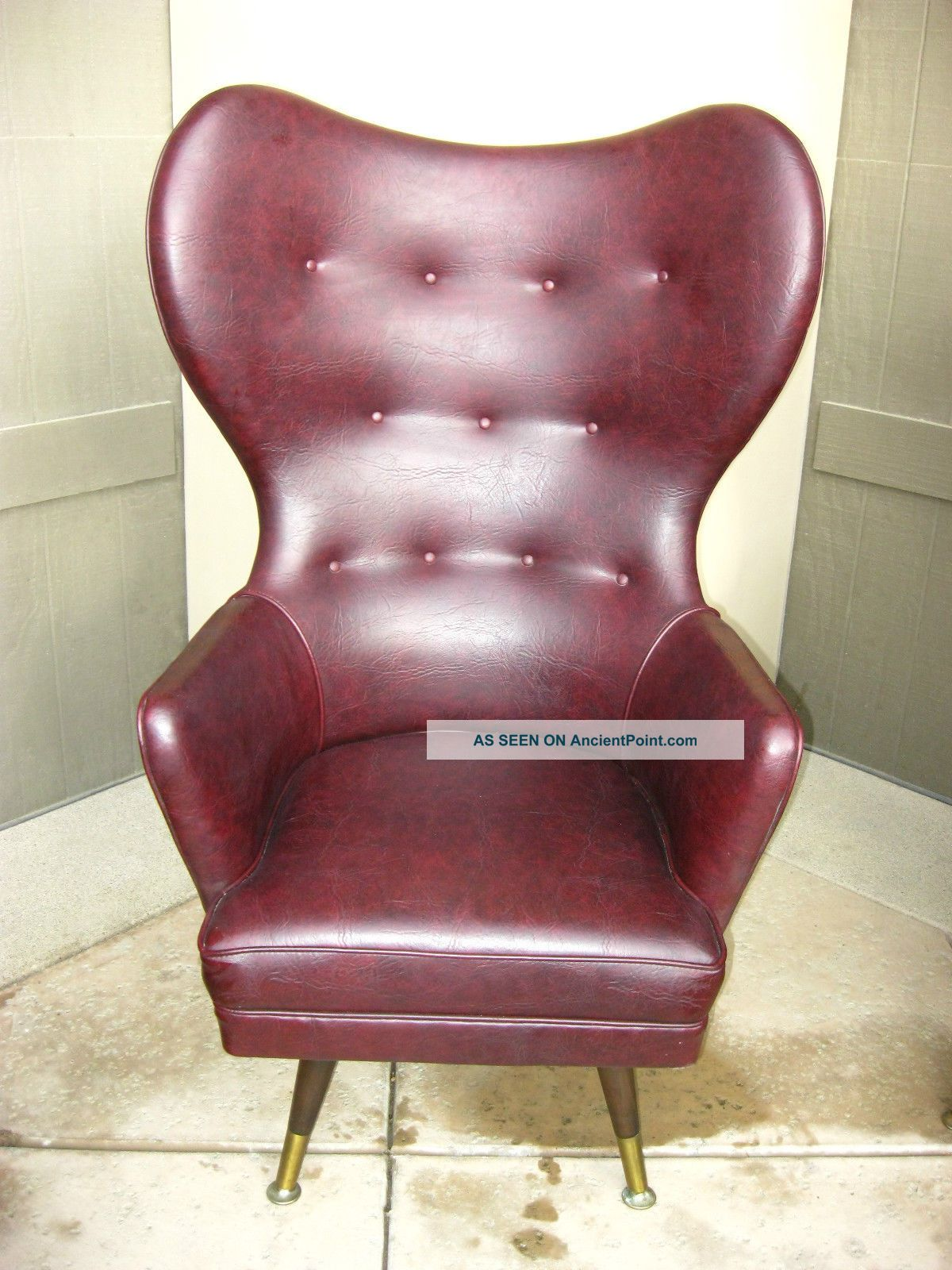 Mid Century Modern Round Wingback Chair Adrian Pearsall