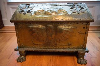 Antique Brass Chest photo