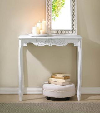 White Scalloped Hall Table (rock Bottom Sale Price) photo