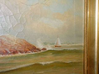 Maritime Lighthouse Painting D A Fisher American 1867 - 1940 Listed Artist photo