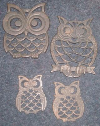 Cast Iron Owl Trivets Set Of Four To This Family photo