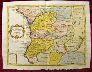 1750 Map Of African Kingdoms Of Kongo,  Loango,  Angola,  Benguela,  Congo,  By Didot photo