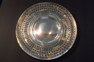 14 Great Tiffany Sterling Silver Pierced Serving Plate photo